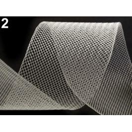 Modistická krinolína na vystuženie šiat a výrobu fascinátorov  šírka 5 cm Transparent 41m Stoklasa