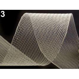 Modistická krinolína na vystuženie šiat a výrobu fascinátorov  šírka 5 cm krémová najsvetl 41m Stoklasa