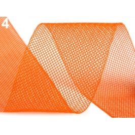 Modistická krinolína na vystuženie šiat a výrobu fascinátorov  šírka 5 cm oranžová   41m Stoklasa