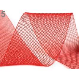 Modistická krinolína na vystuženie šiat a výrobu fascinátorov  šírka 5 cm červená 41m Stoklasa