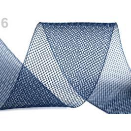 Modistická krinolína na vystuženie šiat a výrobu fascinátorov  šírka 5 cm modrá tm. 41m Stoklasa
