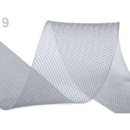 Modistická krinolína na vystuženie šiat a výrobu fascinátorov  šírka 5 cm šedá 41m Stoklasa