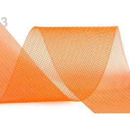 Modistická krinolína na vystuženie šiat a výrobu fascinátorov šírka 8 cm oranžová   1m Stoklasa