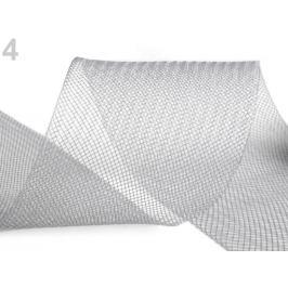Modistická krinolína na vystuženie šiat a výrobu fascinátorov šírka 8 cm šedá 1m Stoklasa