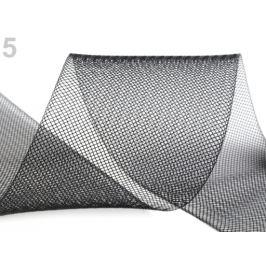 Modistická krinolína na vystuženie šiat a výrobu fascinátorov šírka 8 cm čierna 1m Stoklasa