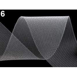 Modistická krinolína na vystuženie šiat a výrobu fascinátorov šírka 8 cm Transparent 1m Stoklasa