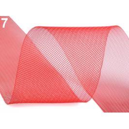 Modistická krinolína na vystuženie šiat a výrobu fascinátorov šírka 8 cm červená 1m Stoklasa