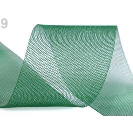 Modistická krinolína na vystuženie šiat a výrobu fascinátorov šírka 8 cm zelená jedla 1m Stoklasa