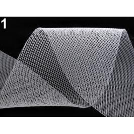 Modistická krinolína na vystuženie šiat a výrobu fascinátorov šírka 10 cm biela 1m Stoklasa