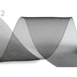 Modistická krinolína na vystuženie šiat a výrobu fascinátorov šírka 10 cm čierna 1m Stoklasa
