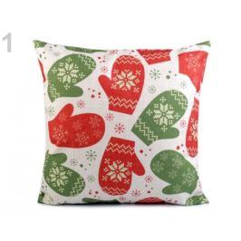 Vianočná obliečka na vankúš 43x43 cm zelená trávová 1ks Stoklasa