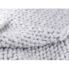 Pletená deka / pléd z extra pevnej priadze šedá najsv. 1ks Stoklasa