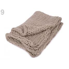 Pletená deka / pléd z extra pevnej priadze béžová sv. 1ks Stoklasa
