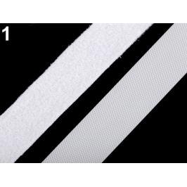 Nízkoprofilový suchý zips háčik + plyš šírka 20 mm jemný biela 5m Stoklasa