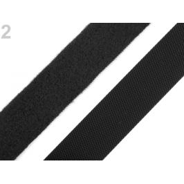Nízkoprofilový suchý zips háčik + plyš šírka 20 mm jemný čierna 5m Stoklasa