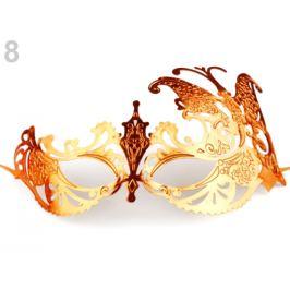 Karnevalová maska - škraboška zlatá 1ks Stoklasa