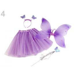 Karnevalový kostým - motýlia víla fialová levandula 1sada Stoklasa