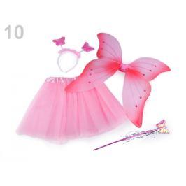 Karnevalový kostým - motýlia víla ružová sv. 1sada Stoklasa