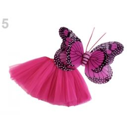 Karnevalový kostým - motýľ fialovoružová 1sada Stoklasa
