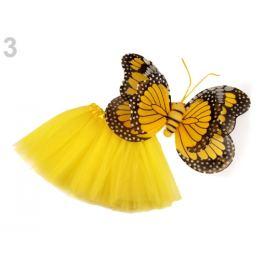 Karnevalový kostým - motýľ žltá 1sada Stoklasa