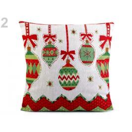 Vianočná obliečka na vankúš 44x44 cm gobelín zelená pastelová 1ks Stoklasa