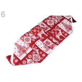Vianočný behúň / obrus 34x175 cm gobelín červená vianočná  1ks Stoklasa