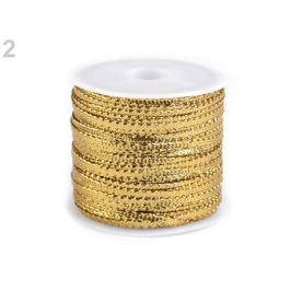Stuha s lurexom šírka 3 mm zlatá svetlá 1ks Stoklasa
