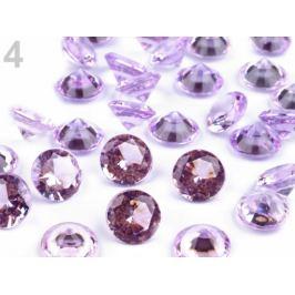 Dekoačné diamanty Ø10 mm fialová sv. 1krab. Stoklasa