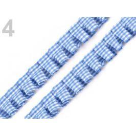 Odevný volánik / prámik šírka 17 mm káro Allure 18m Stoklasa