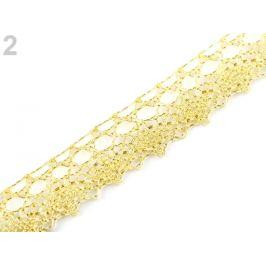 Prámik / čipka šírka 15 mm zlatá svetlá 13.5m Stoklasa