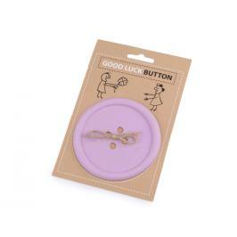 Gombík pre šťastie / tácka fialová lila 1ks