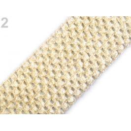 Sieťovaná guma šírka 7 cm tutu vanilka 1m Stoklasa