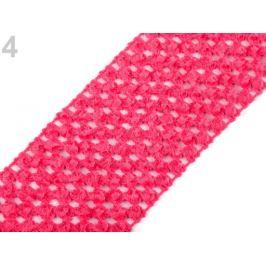 Sieťovaná guma šírka 7 cm tutu malinová 1m Stoklasa