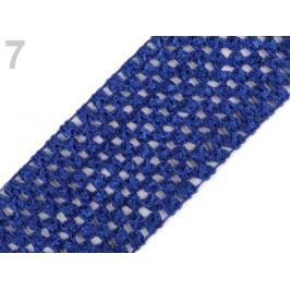 Sieťovaná guma šírka 7 cm tutu modrá safírová 1m Stoklasa