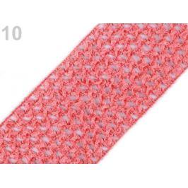 Sieťovaná guma šírka 7 cm tutu červ.korálová 1m Stoklasa