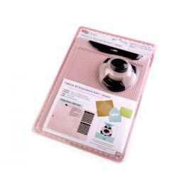 Rýhovacia doska na obálky ružová hmlovo 1kar.