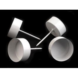Bodce na čajové sviečky Ø4 cm biela 4ks