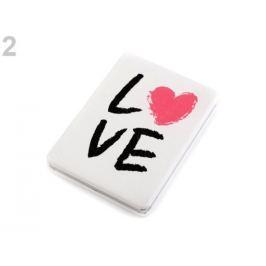 Kozmetické zrkadielko srdce bieločierná 1ks Stoklasa