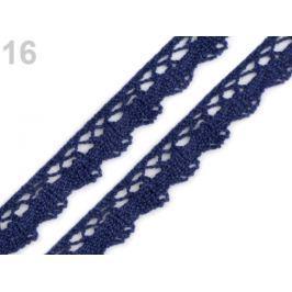 Čipka bavlnená šírka 15 mm paličkovaná Estate Blue 27m Stoklasa