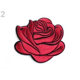 Nažehlovačka na rifle ruže červená tm. 1ks Stoklasa
