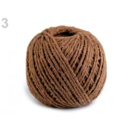 Bavlnený motúzik Ø2 mm hnedá sv. 1ks Stoklasa