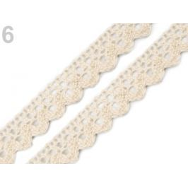 Čipka bavlnená šírka  15 mm paličkovaná Afterglow 2m Stoklasa