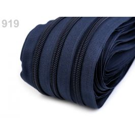 Zips špirálový šírka 5 mm metráž pre bežce typu BX modrá parížska 25m