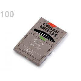 Strojové ihly do priemyslových strojov 70; 80; 90; 100 nikel 1krab.