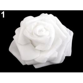 Dekorácia penová ruža Ø9 cm mliečna 2ks Stoklasa