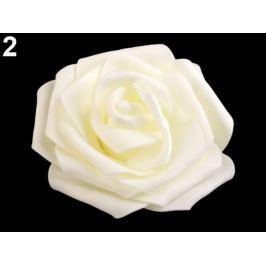 Dekorácia penová ruža Ø9 cm krémová sv. 2ks Stoklasa