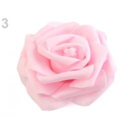 Dekorácia penová ruža Ø9 cm ružová najsv. 2ks Stoklasa