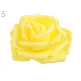 Dekorácia penová ruža Ø9 cm žltá   2ks Stoklasa