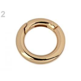 Karabínka okrúhla na kabelky / krúžok na kľúče Ø18 mm starozlatá 1ks Stoklasa