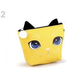 Peňaženka / puzdro mačka Languo 8x11 cm žltá 1ks Stoklasa